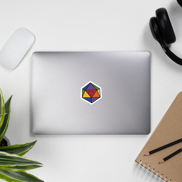 Happy D20 Bubble-free stickers