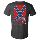 Cherokee XJ Confederate Flag Heather Gray Jeep Shirt - Back