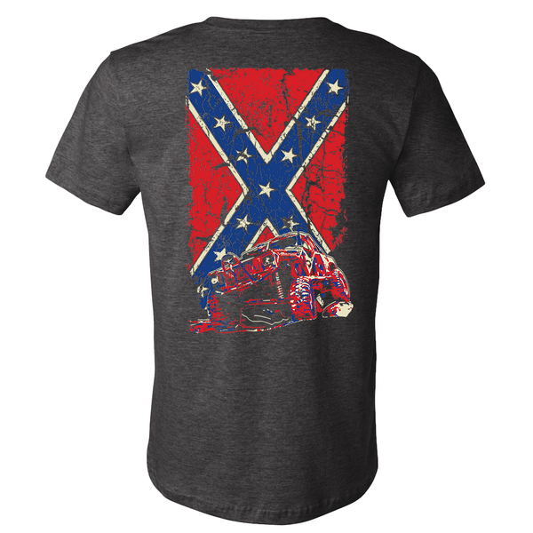 Confederate Flag Cherokee XJ Jeep Shirt - Heather Gray