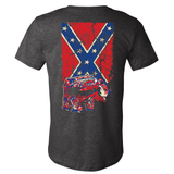 Wrangler TJ Confederate Flag Heather Gray Jeep Shirt - Back