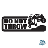 Jeep Do Not Throw Decal