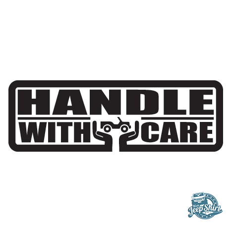 Handle With Care Jeep Decal