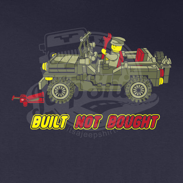 Jeep Clothing Built Not Bought LEGO Willys T Shirt - Jeep t shirt design