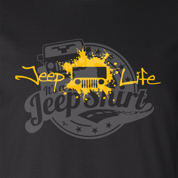 Jeep Life TJCJ Mens Black T Shirt Its A JeepShirt - Jeep t shirt design