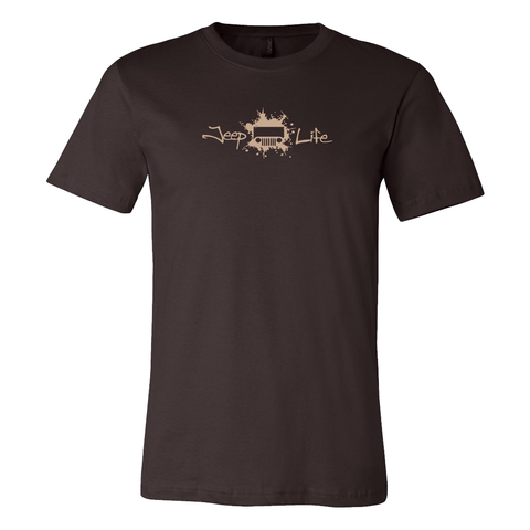 Jeep Life TJ/CJ Men's T-Shirt - Brown