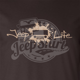 Jeep Life Tan on Brown Design