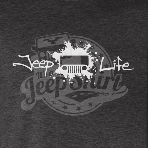 Jeep Life TJ/CJ Men's T-Shirt - Heather Gray
