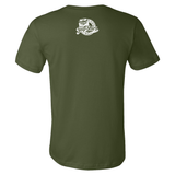 Off Road Evolution Wrangler JK Men's T Shirt Military Green - Back