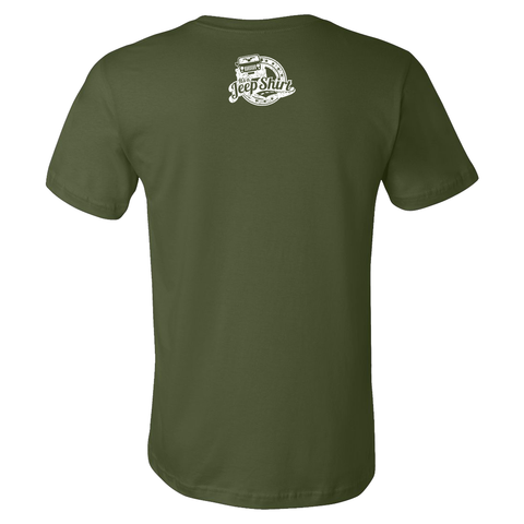 Off Road Evolution Wrangler JK Jeep Shirt  - Men's Military Green
