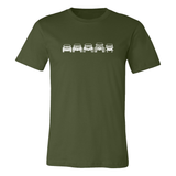 Off Road Evolution Wrangler JK Men's T Shirt Military Green - Front