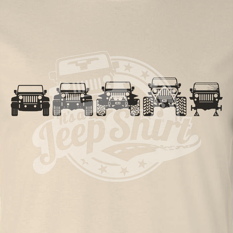Off Road Evolution Wrangler JK Jeep Shirt  - Men's Sand