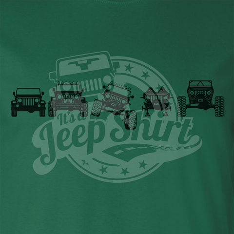 Off Road Evolution Wrangler TJ Jeep T Shirt - Men's Green