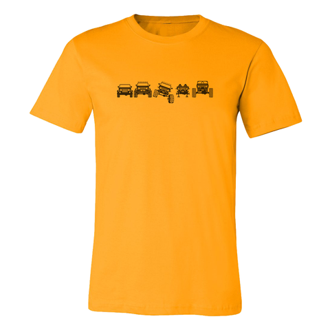Off Road Evolution Wrangler TJ Jeep T Shirt - Men's Yellow