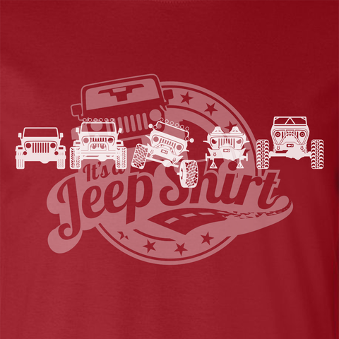 Off Road Evolution Wrangler TJ Jeep T Shirt - Men's Red