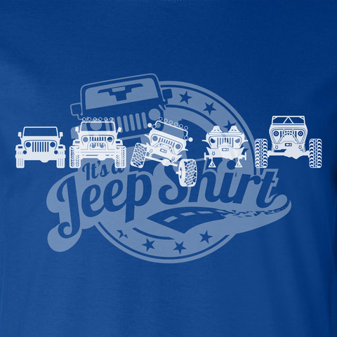 Off Road Evolution Wrangler TJ Jeep T Shirt - Men's Royal Blue