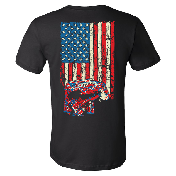 American Flag Wrangler Tj Jeep Shirt It 39 S A Jeepshirt