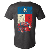 Texas Flag Wrangler TJ Dark Heather Gray T Shirt - Back