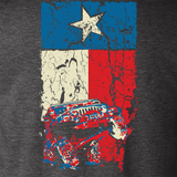 Texas Flag Wrangler TJ Dark Heather Gray T Shirt - Design