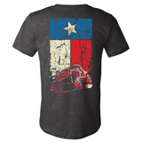 Texas Flag Cherokee XJ Dark Heather Gray T Shirt - Back