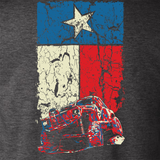 Texas Flag Cherokee XJ Dark Heather Gray T Shirt - Design
