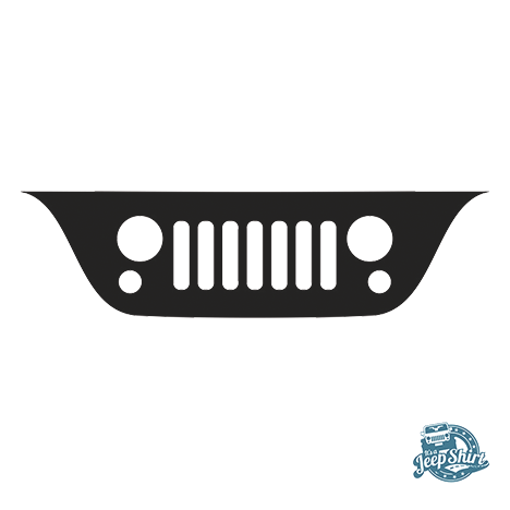 Jeep Wrangler JK Grille Windshield Decal