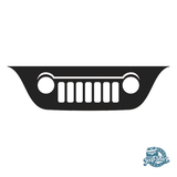 Jeep Liberty KJ Grille Windshield Decal