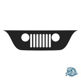 Jeep Wrangler TJ Grille Windshield Decal