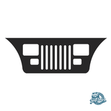 Jeep Wrangler YJ Grille Windshield Decal