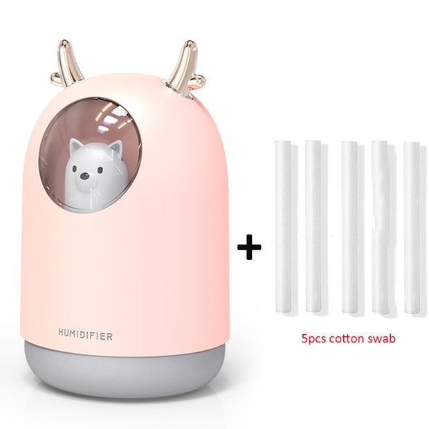 Ultrasonic Cool Mist Aroma Air LED Lamp Humidificador - Best Creative Designs