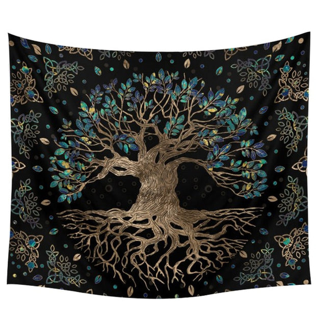 Life Trees Tapestry Wall Hanging Psychedelic Wall Carpet - Best Creative Designs