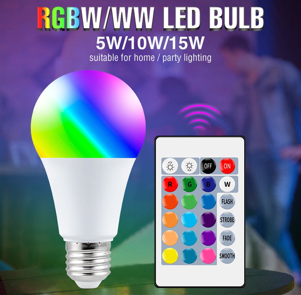 E27 Smart Control Lamp Led RGB Light Dimmable - Best Creative Designs