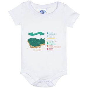 Open image in slideshow, Cambodia map Baby Onesie 6 Month