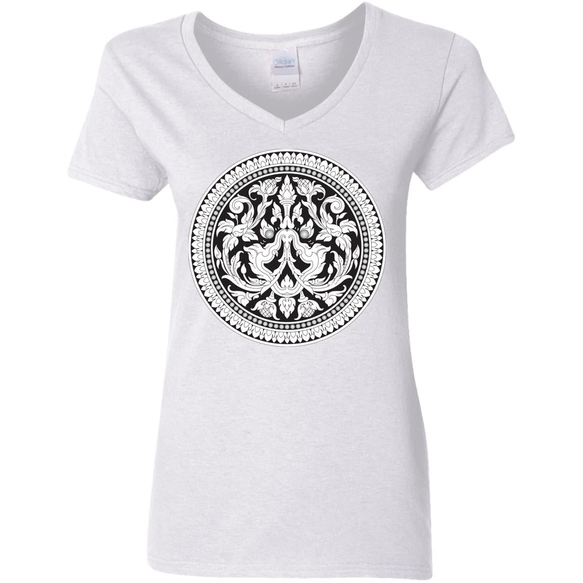 Kbach Khmer Kbal Krut G500VL Ladies' 5.3 oz. V-Neck T-Shirt