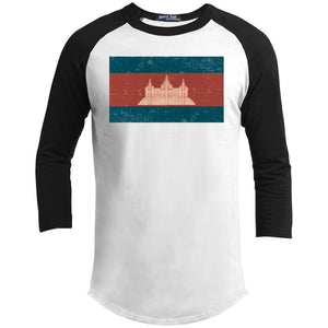 Open image in slideshow, Cambodia flag YT200 Youth 3/4 Raglan Sleeve Shirt