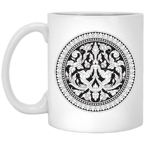 Open image in slideshow, Kbach Khmer Kbal Krut XP8434 11 oz. White Mug