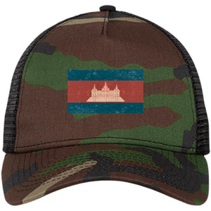 Open image in slideshow, Cambodia flag NE205 Snapback Trucker Cap