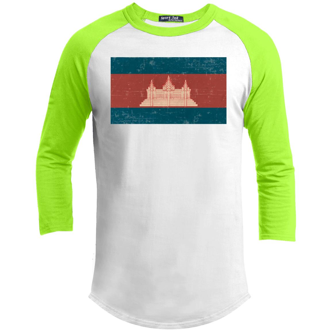 Cambodia flag YT200 Youth 3/4 Raglan Sleeve Shirt