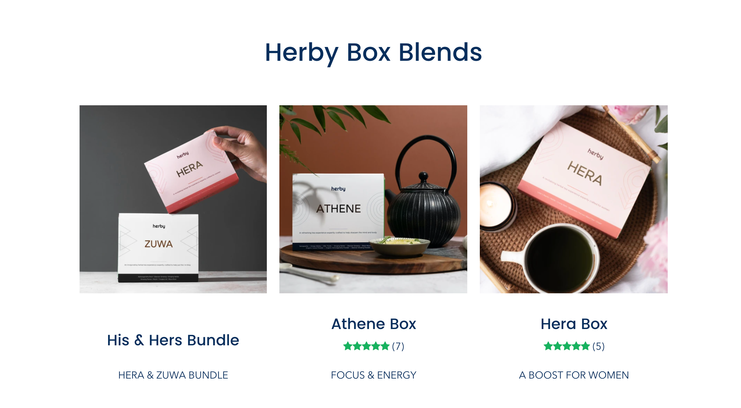 The His & Hers Bundle, Athene Box, and the Hera Box