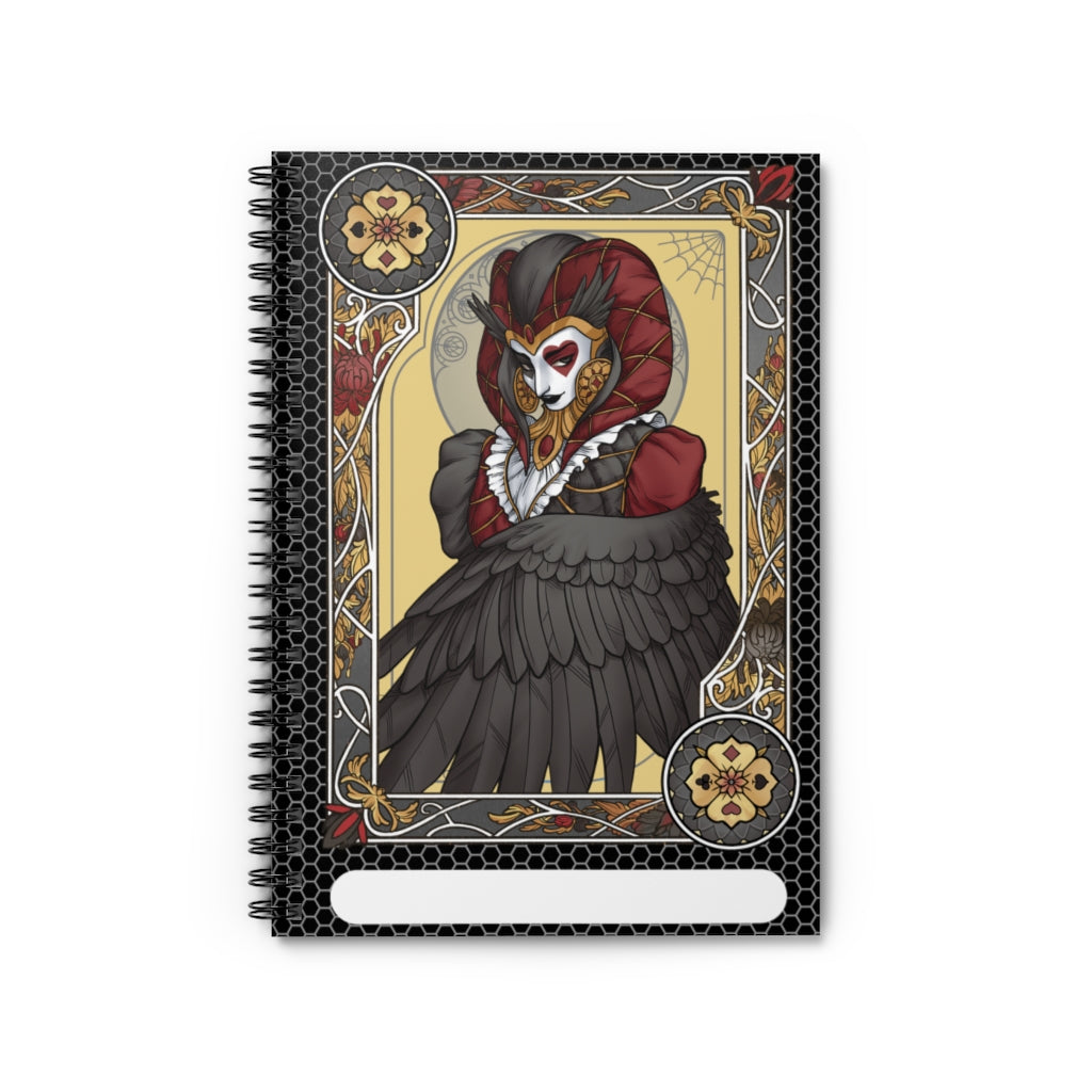 Winged Joker<br>Spiral Notebook - Lined