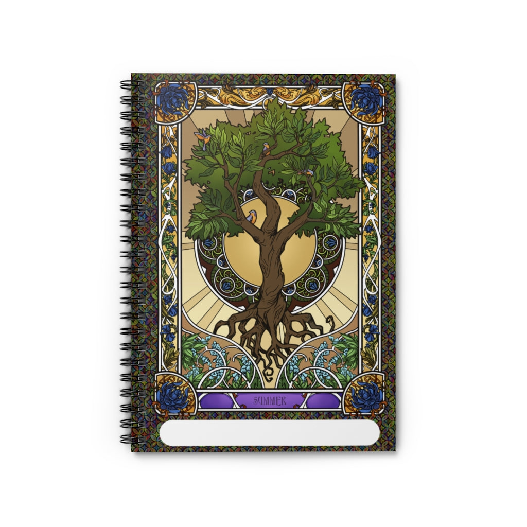 Summer Tree of Life<br>Spiral Notebook - Lined