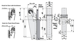 Door Damper DD16 Dimensions