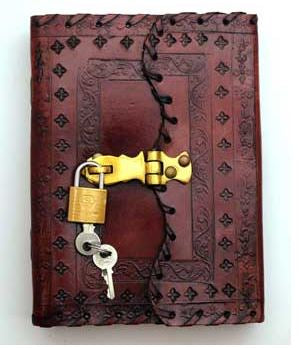 Book of Shadows with lock