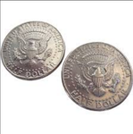Double sided Coin Double-tail-half dollar