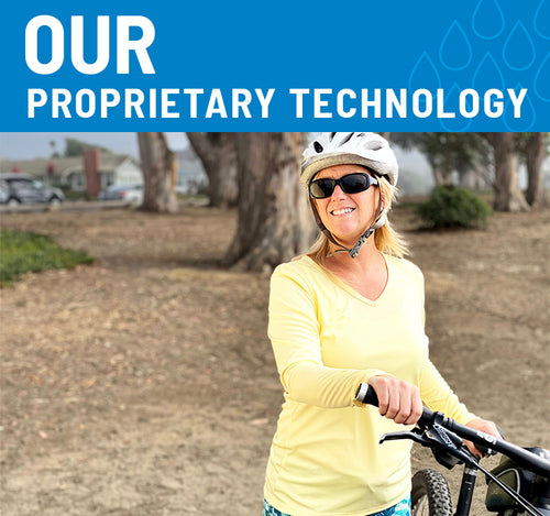 Our Proprietary Technology - woman with bike