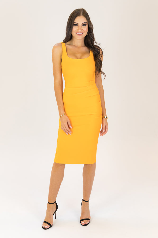 On Chill Bodycon Bandage Dress Orange