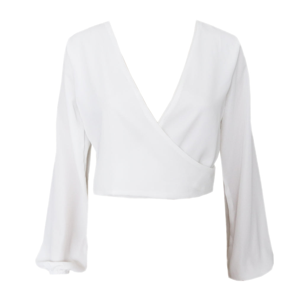 Alyssa wrap top - White