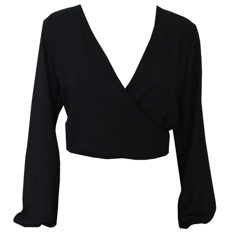 Alyssa wrap top - Black