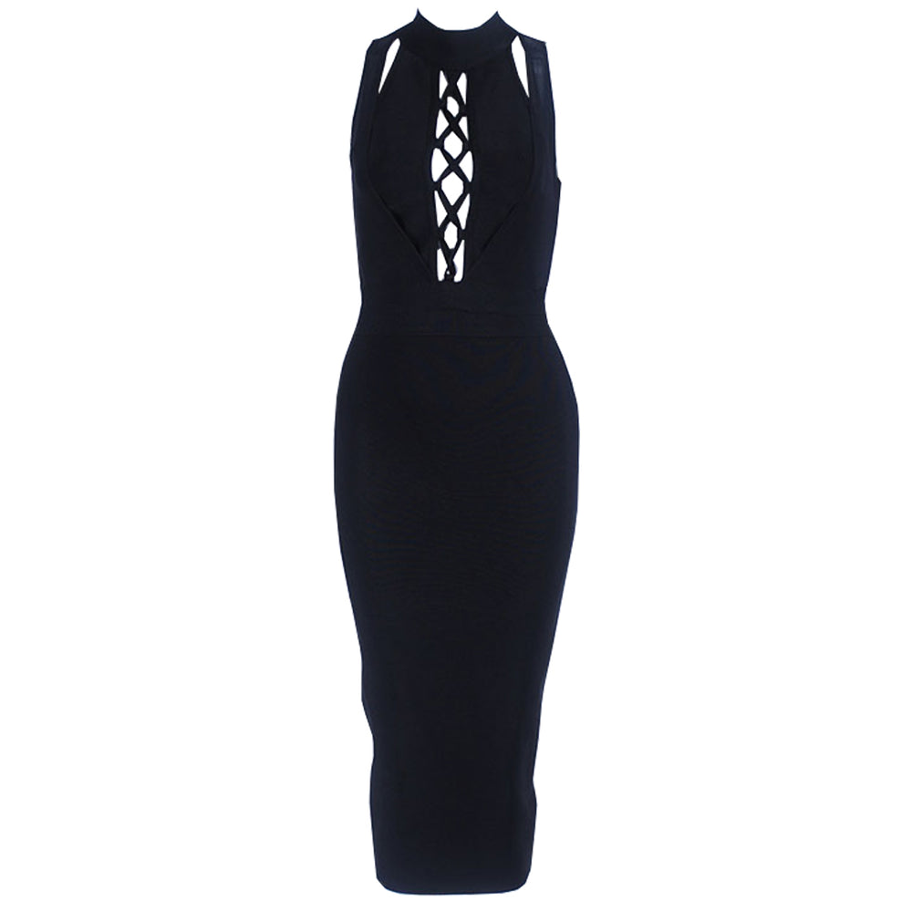 Amber Bandage Dress - Black