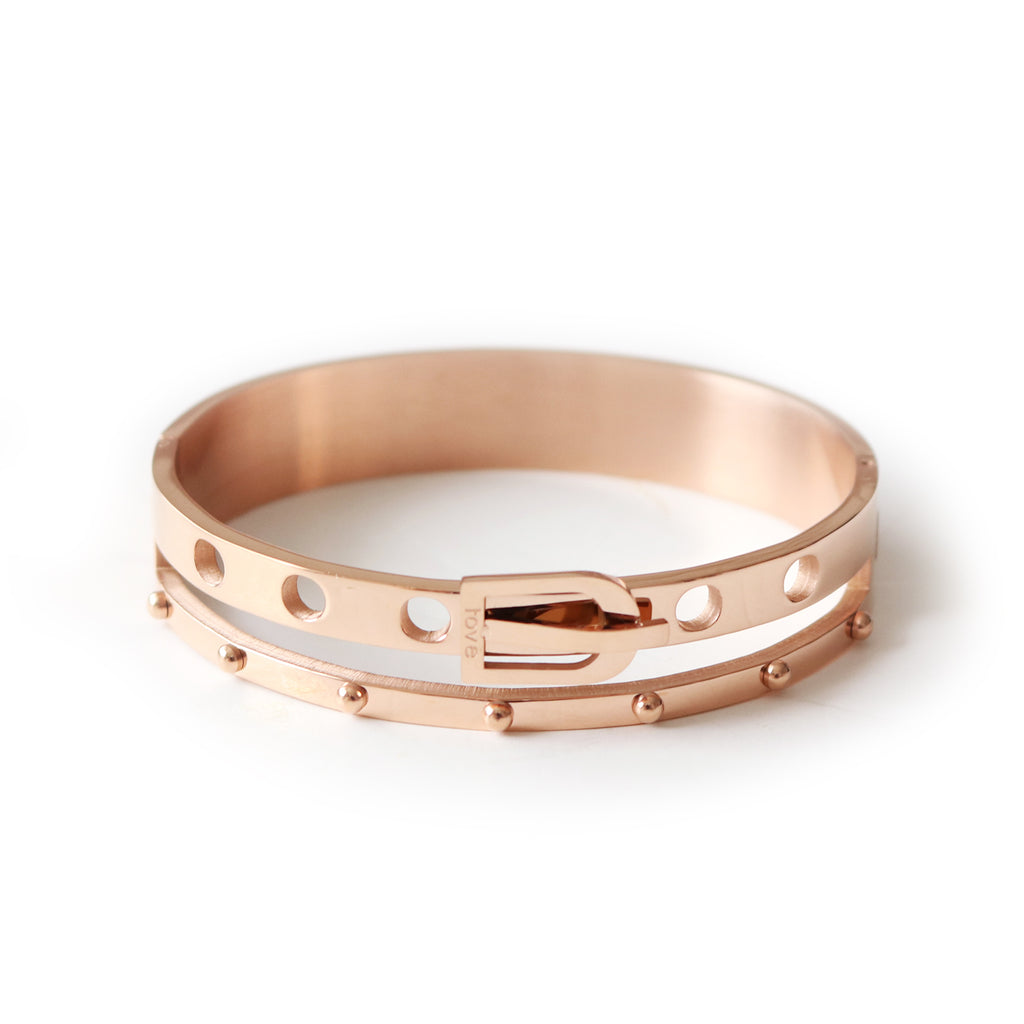 Amor Bangle Rose Gold