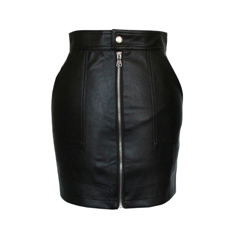 Anika faux leather mini skirt